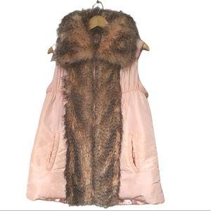 Outdoor Edition By Parkhurst pink faux fur vest M